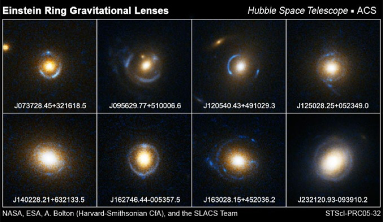 Images of strong lenses taken with HST.